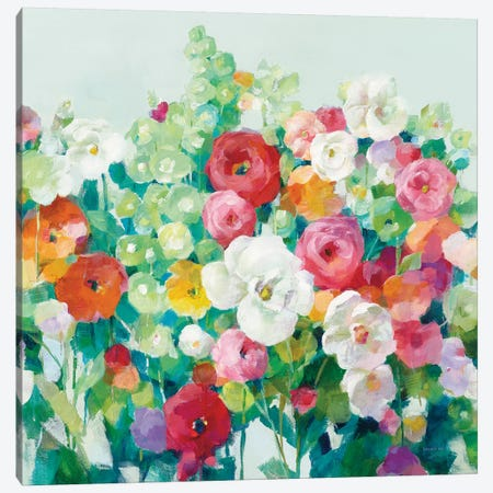 June Beauties Pale Blue Canvas Print #NAI193} by Danhui Nai Canvas Art Print