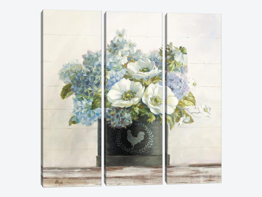 Anemones In Hatbox by Danhui Nai 3-piece Art Print