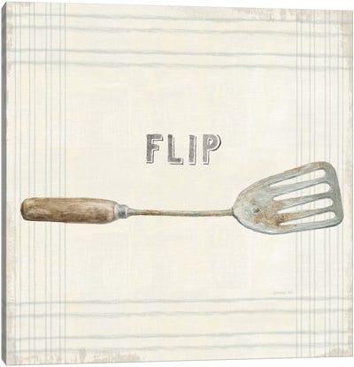 Floursack Kitchen Sign I Neutral Sq Canvas Art Print
