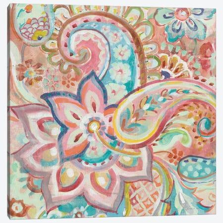 Paisley Galore Crop Canvas Print #NAI206} by Danhui Nai Canvas Artwork