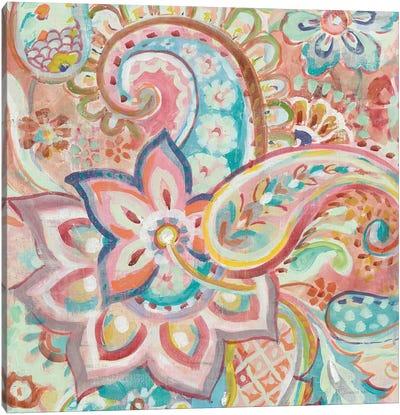 Paisley Galore Crop Canvas Art Print