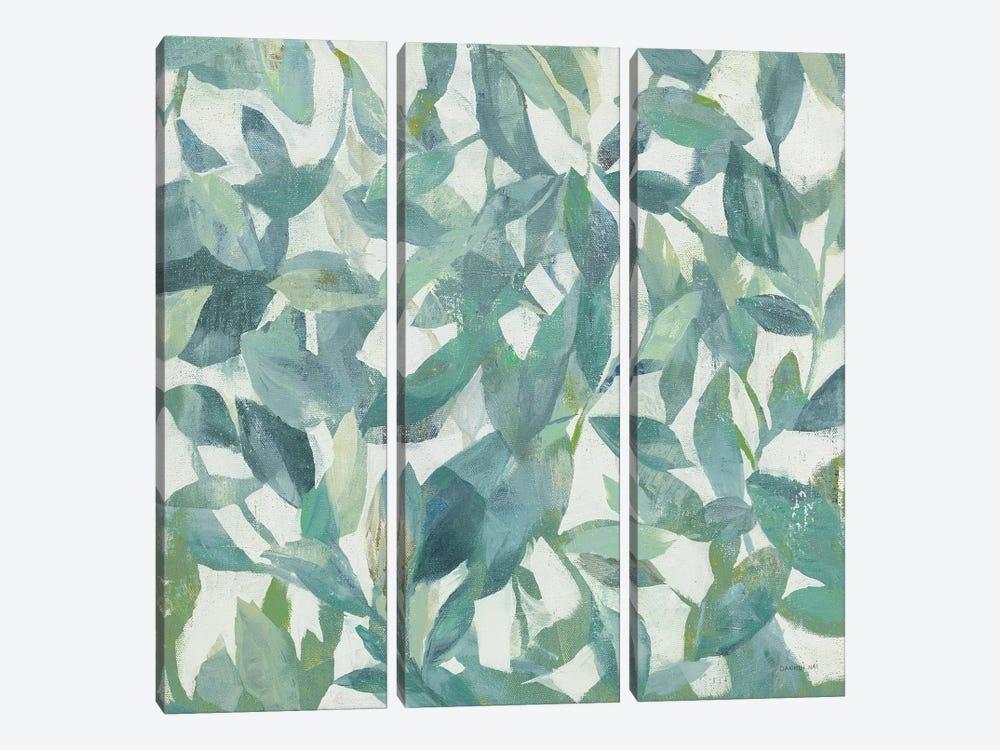Summer Garden Greenery I Light by Danhui Nai 3-piece Canvas Artwork