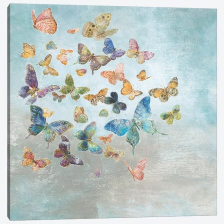 Beautiful Butterflies Square Canvas Print #NAI20} by Danhui Nai Canvas Art