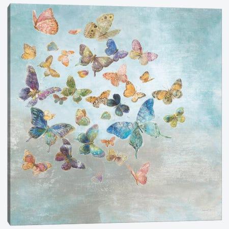 Beautiful Butterflies Square Canvas Print #NAI20} by Danhui Nai Canvas Art