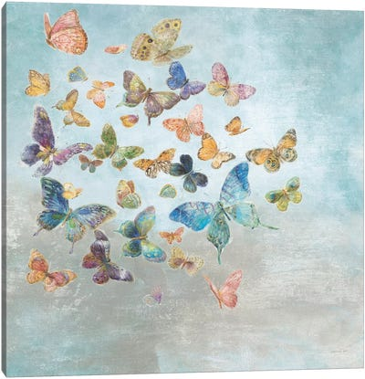Beautiful Butterflies Square Canvas Art Print