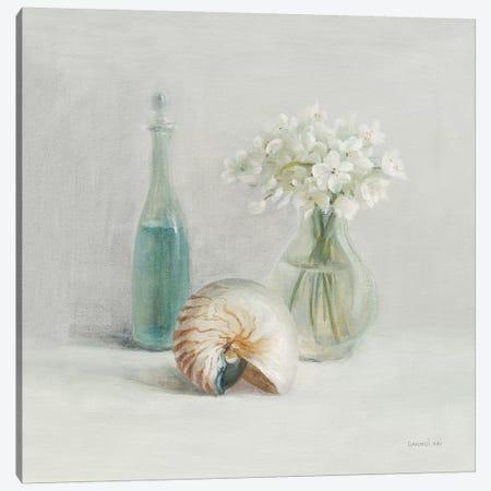 Light White Flower Spa Canvas Print #NAI213} by Danhui Nai Canvas Wall Art