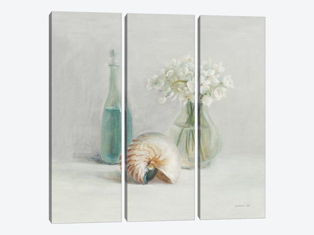 Light White Flower Spa by Danhui Nai 3-piece Canvas Print