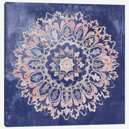Mandala Delight II Navy Canvas Print #NAI214} by Danhui Nai Canvas Print