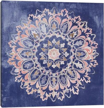 Mandala Delight II Navy Canvas Art Print