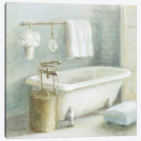 Refreshing Bath II Brass Canvas Print #NAI217} by Danhui Nai Canvas Print