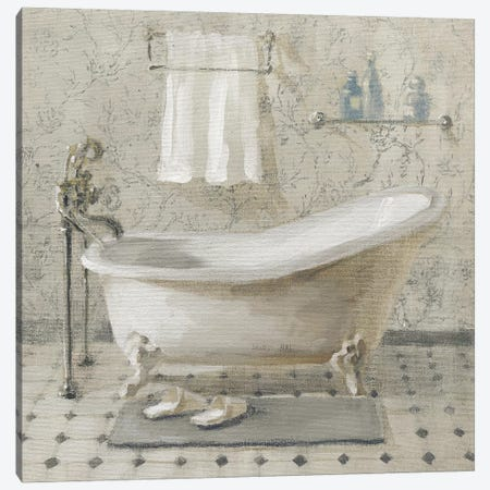 Victorian Bath III Neutral Canvas Print #NAI221} by Danhui Nai Canvas Print