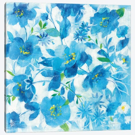 Scattered Floral Canvas Print #NAI233} by Danhui Nai Canvas Artwork