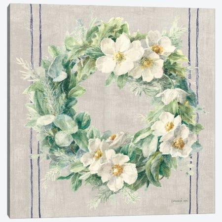 Floursack Holiday Wreath Canvas Print #NAI248} by Danhui Nai Canvas Print