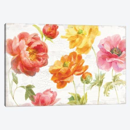 Full Bloom I Canvas Print #NAI249} by Danhui Nai Art Print