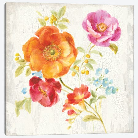 Full Bloom II Canvas Print #NAI250} by Danhui Nai Canvas Art