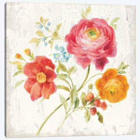 Full Bloom III Canvas Print #NAI251} by Danhui Nai Canvas Wall Art