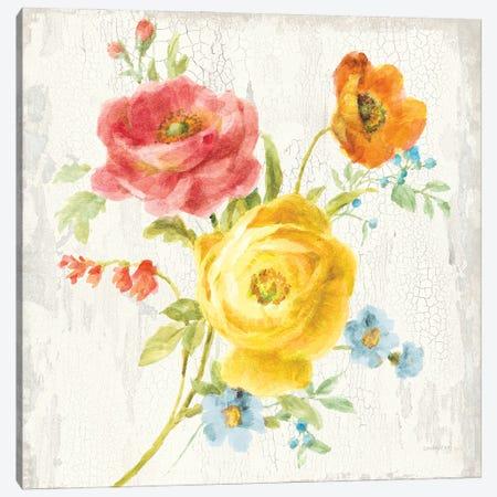 Full Bloom V Canvas Print #NAI253} by Danhui Nai Canvas Wall Art