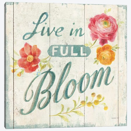 Full Bloom X Floral Canvas Print #NAI254} by Danhui Nai Art Print