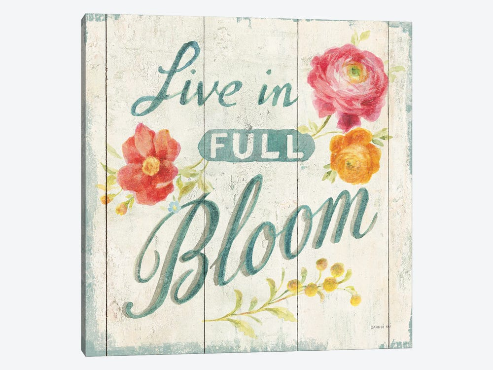 Full Bloom X Floral by Danhui Nai 1-piece Canvas Art