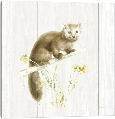 Meadows Edge V on Wood Canvas Art Print