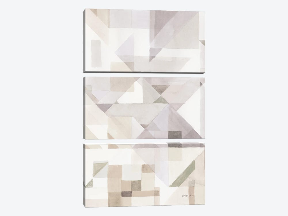 Try Angles III Neutral Sage by Danhui Nai 3-piece Canvas Print