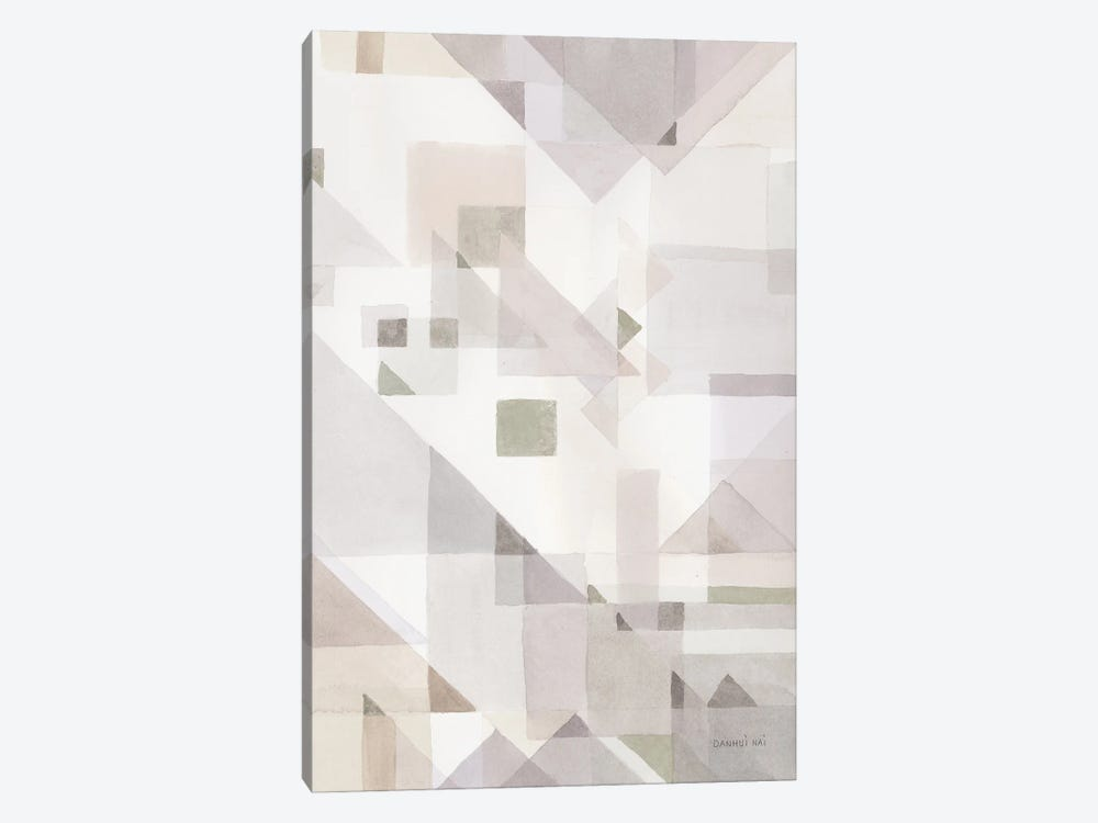 Try Angles IV Neutral Sage by Danhui Nai 1-piece Canvas Art