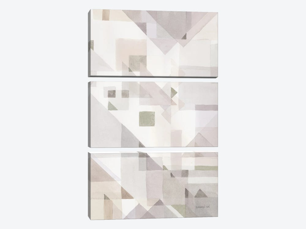 Try Angles IV Neutral Sage by Danhui Nai 3-piece Canvas Art
