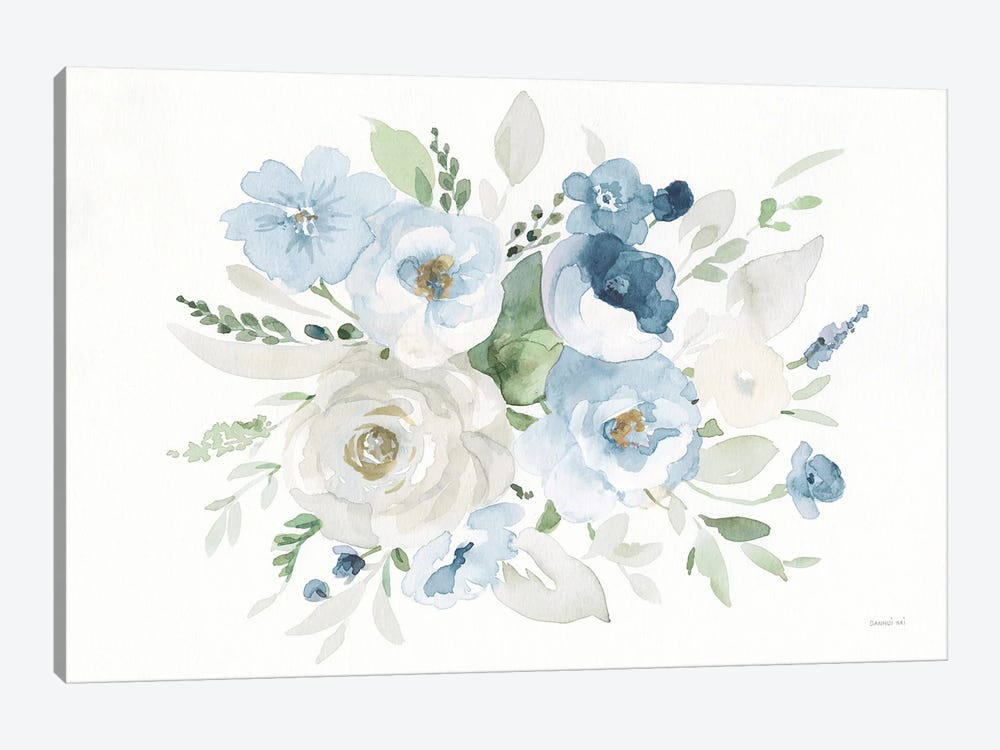 Essence Of Spring Ii Blue by Danhui Nai 1-piece Canvas Wall Art