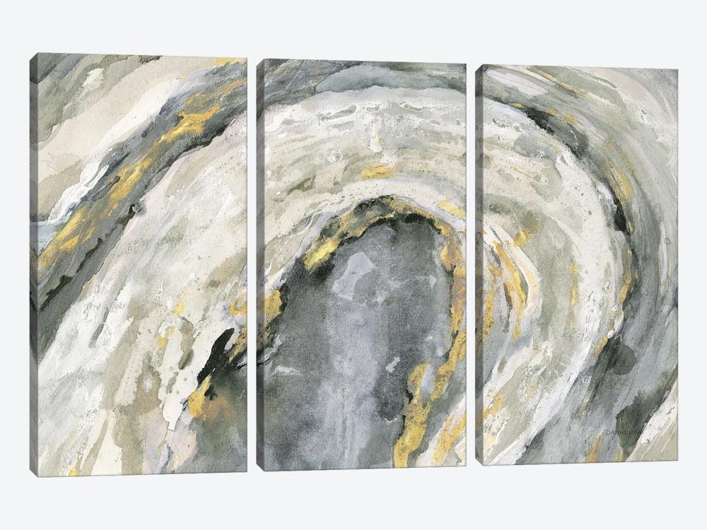 Flow Neutral Crop by Danhui Nai 3-piece Canvas Art Print