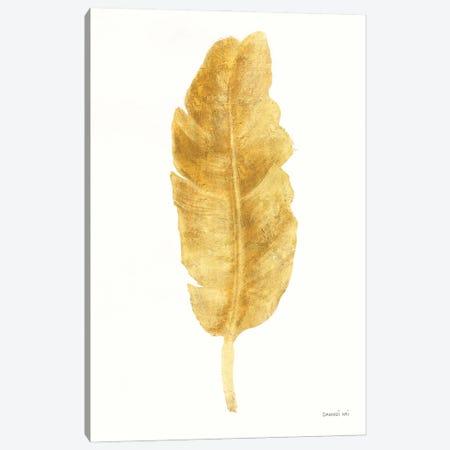 Palms Of The Tropics III Gold Canvas Print #NAI286} by Danhui Nai Canvas Wall Art