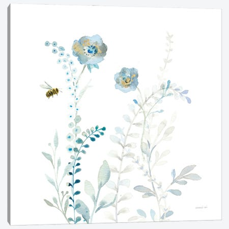 Blues of Summer IX Canvas Print #NAI290} by Danhui Nai Canvas Artwork