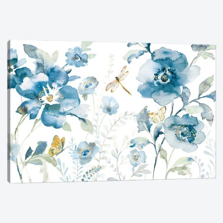 Blues of Summer V Canvas Print #NAI291} by Danhui Nai Canvas Wall Art