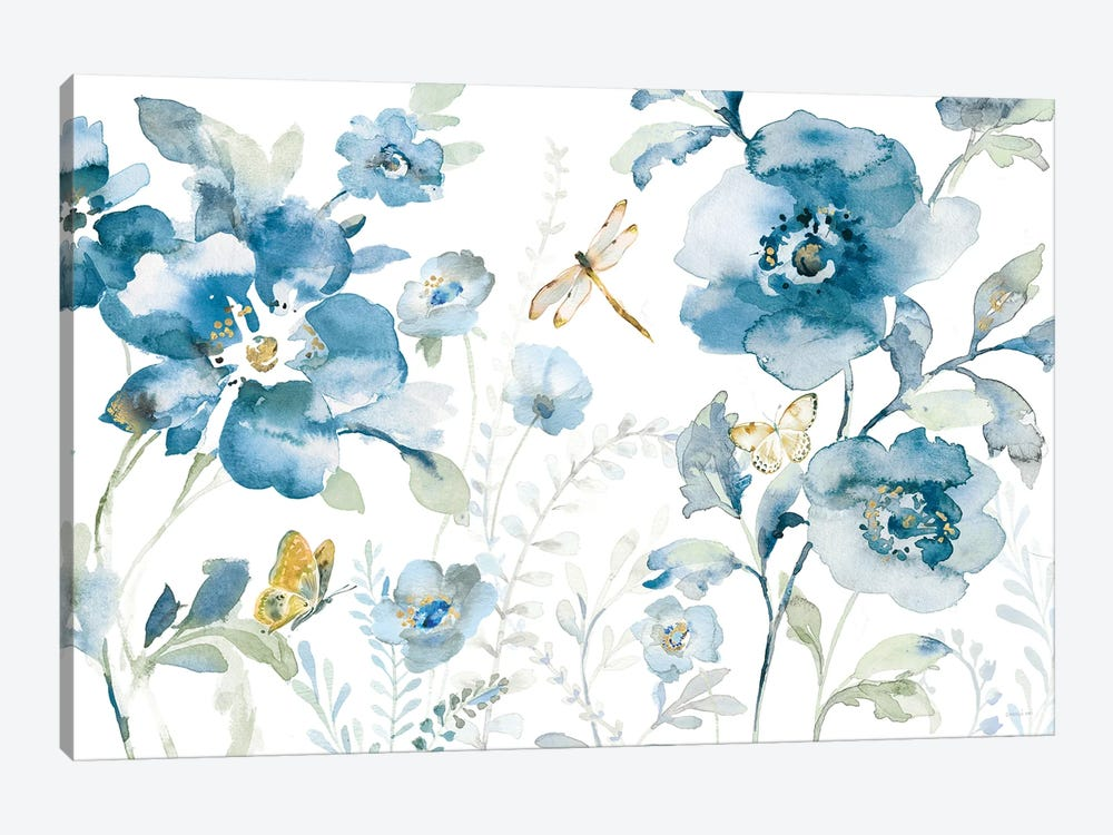 Blues of Summer V by Danhui Nai 1-piece Canvas Art Print