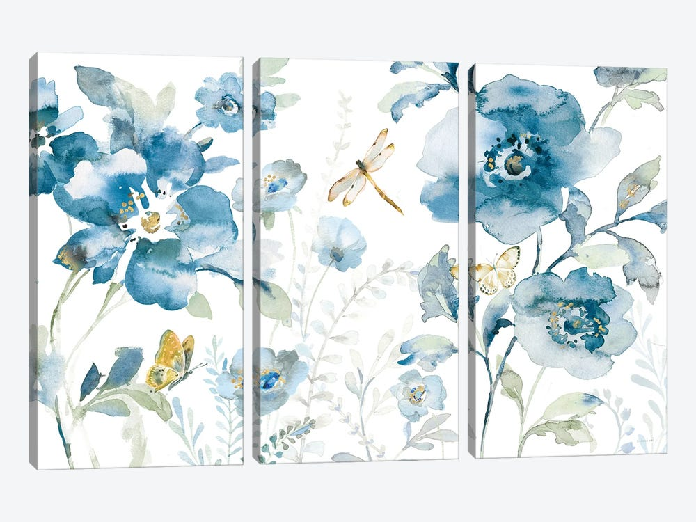 Blues of Summer V by Danhui Nai 3-piece Art Print