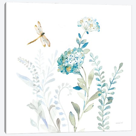 Blues of Summer VII Canvas Print #NAI293} by Danhui Nai Canvas Wall Art