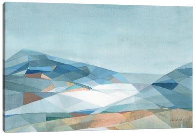 Geometric Mountain Canvas Art Print