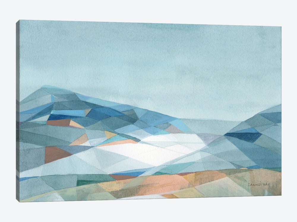 Geometric Mountain by Danhui Nai 1-piece Canvas Art