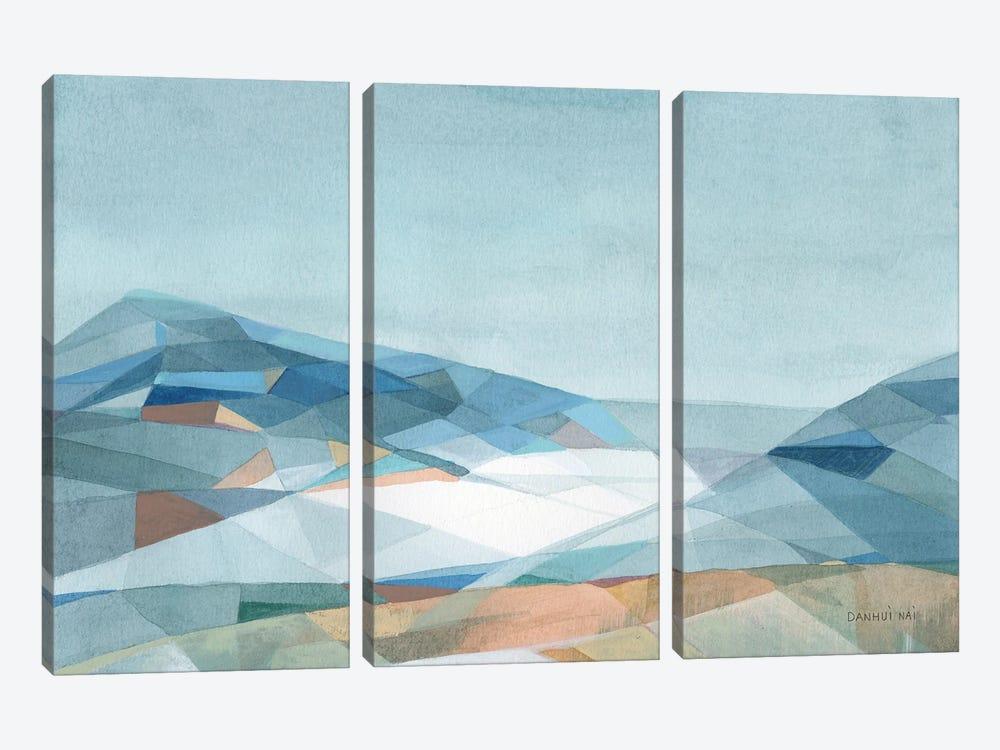 Geometric Mountain by Danhui Nai 3-piece Canvas Wall Art