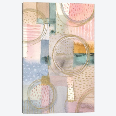 Circle Stories I Canvas Print #NAI298} by Danhui Nai Canvas Art