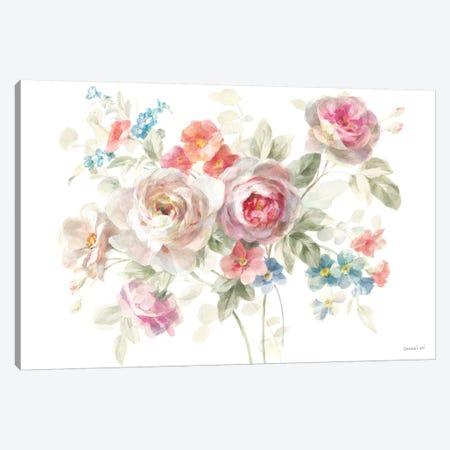 Cottage Garden I on White Canvas Print #NAI29} by Danhui Nai Canvas Art