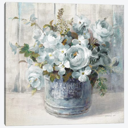 Garden Blooms I In Blue Canvas Print #NAI2} by Danhui Nai Canvas Wall Art