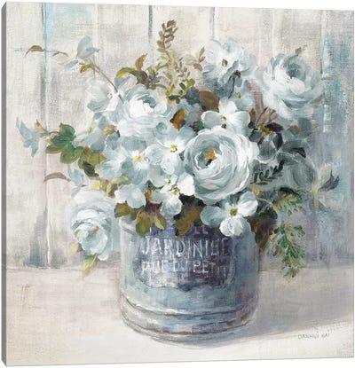 Garden Blooms I In Blue Canvas Art Print