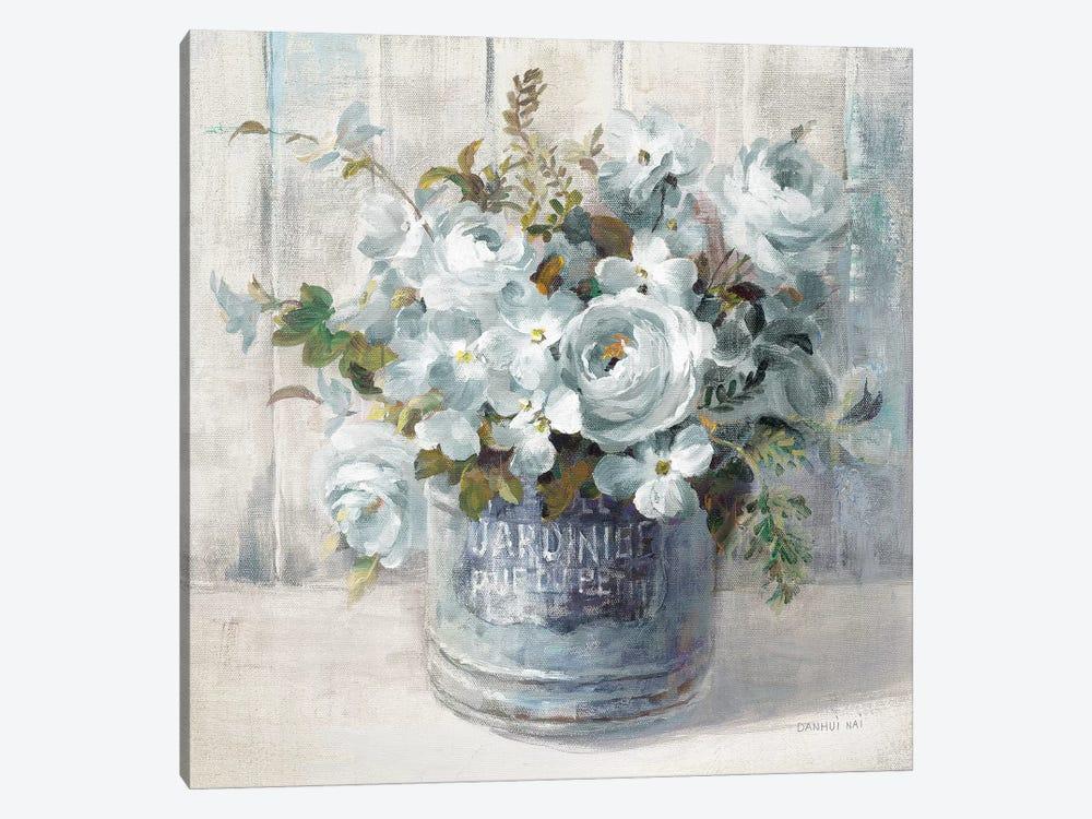 Garden Blooms I In Blue by Danhui Nai 1-piece Canvas Art