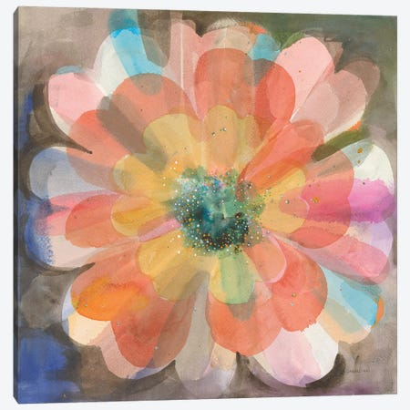 Kaleidoscope Flower Canvas Print #NAI309} by Danhui Nai Canvas Art