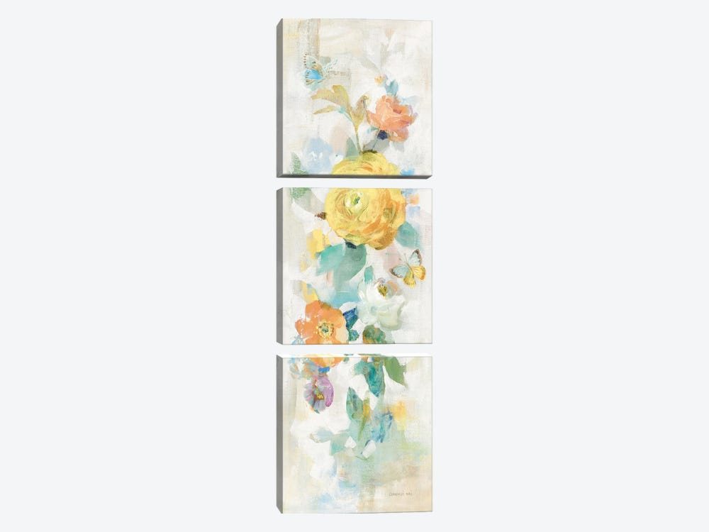 Natural Blooming Splendor III by Danhui Nai 3-piece Canvas Print