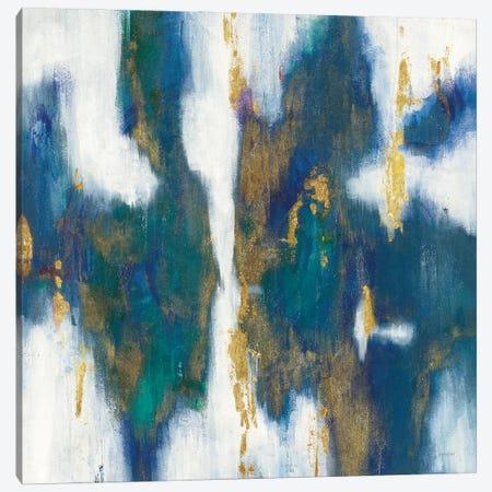 Blue Texture I Gold Canvas Print #NAI316} by Danhui Nai Canvas Artwork