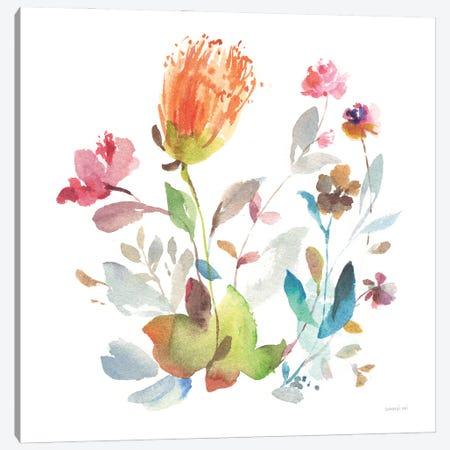 Circle Full of Flowers I Canvas Print #NAI318} by Danhui Nai Canvas Print