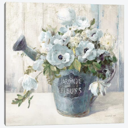 Garden Blooms II In Blue Canvas Print #NAI3} by Danhui Nai Canvas Wall Art