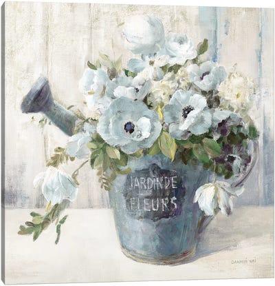 Garden Blooms II In Blue Canvas Art Print