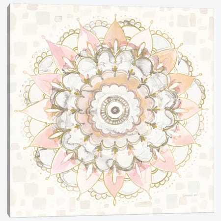 Modern Mandala Square Champagne Canvas Print #NAI44} by Danhui Nai Canvas Print